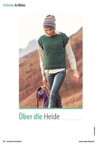 Strickanleitung - Über die Heide - Fantastische Herbst-Strickideen 05/2020