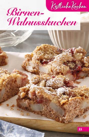 Rezept - Birnen-Walnusskuchen - Simply Backen Sonderheft Obstkuchen – 01/2020