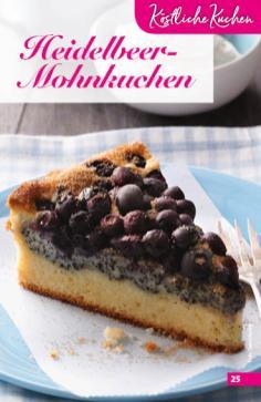 Rezept - Heidelbeer-Mohnkuchen - Simply Backen Sonderheft Obstkuchen – 01/2020