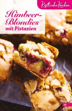 Rezept - Himbeer-Blondies mit Pistazien - Simply Backen Sonderheft Obstkuchen – 01/2020