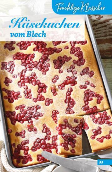 Rezept - Käsekuchen vom Blech - Simply Backen Sonderheft Obstkuchen – 01/2020