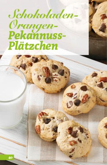 Rezept - Schokoladen-Orangen-Pekannuss-Plätzchen - Simply Backen Sonderheft Weihnachts-Plätzchen – 01/2020