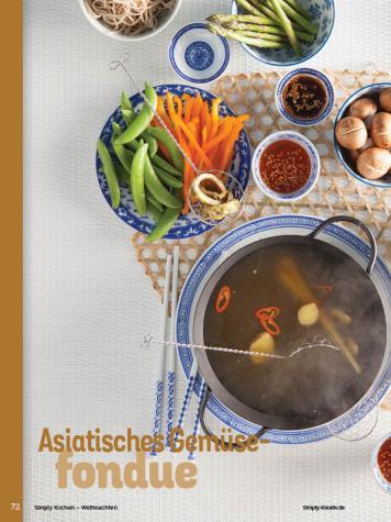 Rezept - Asiatisches Gemüsefondue - Simply Kochen Weihnachten 01/2020