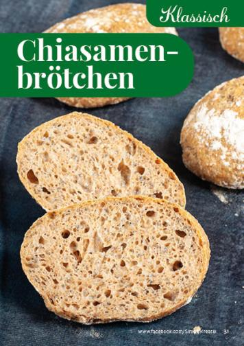 Rezept - Chiasamenbrötchen - Simply Backen kompakt Brötchen – 01/2020