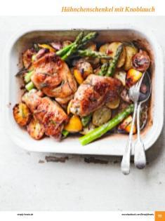 Rezept - Hähnchenschenkel mit Knoblauch - Simply Kochen Sonderheft: One-Pot-Gerichte