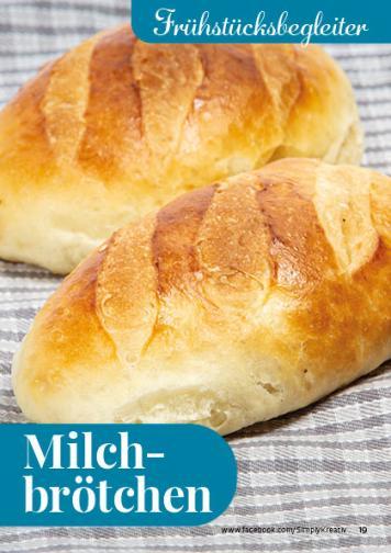 Rezept - Milchbrötchen - Simply Backen kompakt Brötchen – 01/2020