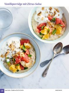 Rezept - Vanilleporridge mit Zitrus-Salsa - Simply Kochen Sonderheft: One-Pot-Gerichte