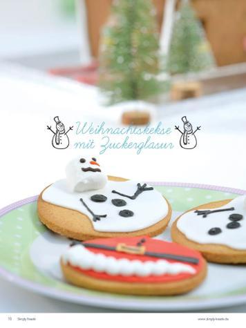 Rezept - Weihnachtskekse mit Zuckerglasur - Simply Kreativ Heft 04/2020