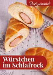 Rezept - Würstchen im Schlafrock - Simply Backen kompakt Brötchen – 01/2020