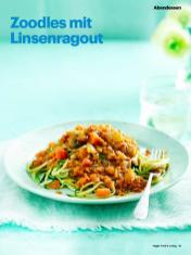 Rezept - Zoodles mit Linsenragout - Vegan Food & Living – 05/2020