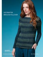 Strickanleitung - Gestreifter Brioche-Pullover - Best of Designer Knitting 01/2021