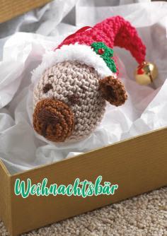 Häkelanleitung - Weihnachtsbär - Simply Häkeln kompakt Weihnachtsdeko 01/2021