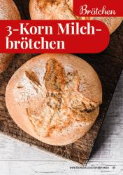 Rezept - 3-Korn-Milchbrötchen - Simply Backen kompakt Vollkorn – 01/2021
