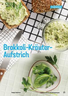 Rezept - Brokkoli-Kräuter-Aufstrich - Simply Kochen Kompakt Low Carb 01/2021