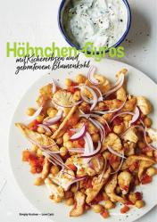 Rezept - Hähnchen-Gyros mit Kichererbsen und gebratenem Blumenkohl - Simply Kochen Kompakt Low Carb 01/2021