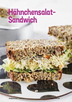 Rezept - Hähnchensalat-Sandwich - Simply Kochen Kompakt Low Carb 01/2021