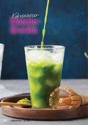 Rezept - Kokoswasser-Matcha-Granita - Simply Kochen Kompakt Low Carb 01/2021