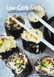 Rezept - Low-Carb-Sushi mit Blumenkohl statt Reis - Simply Kochen Kompakt Low Carb 01/2021