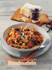 Rezept - Mediterrane Antipasti-Bandnudeln - Simply Kochen Nudeln 04/2020