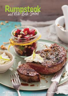 Rezept - Rumpsteak mit Rote-Bete-Salat - Simply Kochen Kompakt Low Carb 01/2021