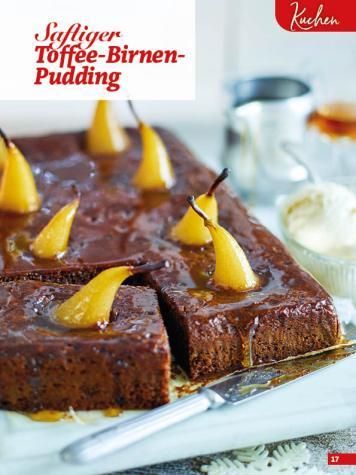 Rezept - Saftiger Toffee-Birnen-Pudding - Simply Backen Special Weihnachten 01/2020