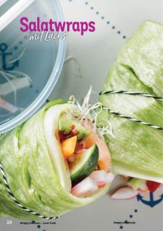Rezept - Salatwraps mit Lachs - Simply Kochen Kompakt Low Carb 01/2021