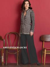 Strickanleitung - Kreuzstich-Jacke - Best of Designer Knitting 02/2021