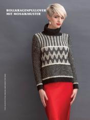 Strickanleitung - Rollkragenpullover mit Mosaikmuster - Best of Designer Knitting 02/2021