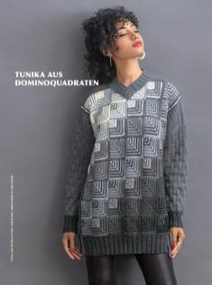 Strickanleitung - Tunika aus Dominoquadraten - Best of Designer Knitting 02/2021