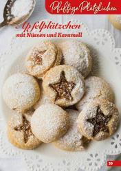 Rezept - Apfelplätzchen mit Nüssen und Karamell - Simply Backen Kekse 04/2020
