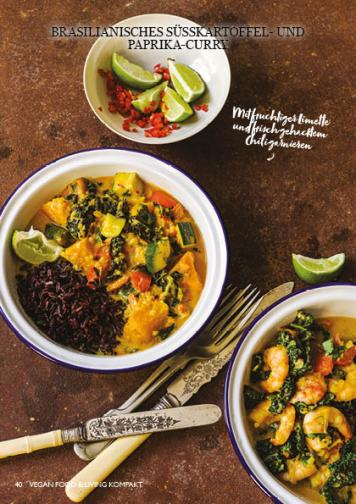 Rezept - Brasilianisches Süßkartoffel und Paprika-Curry - Vegan Food & Living Kompakt – 01/2021