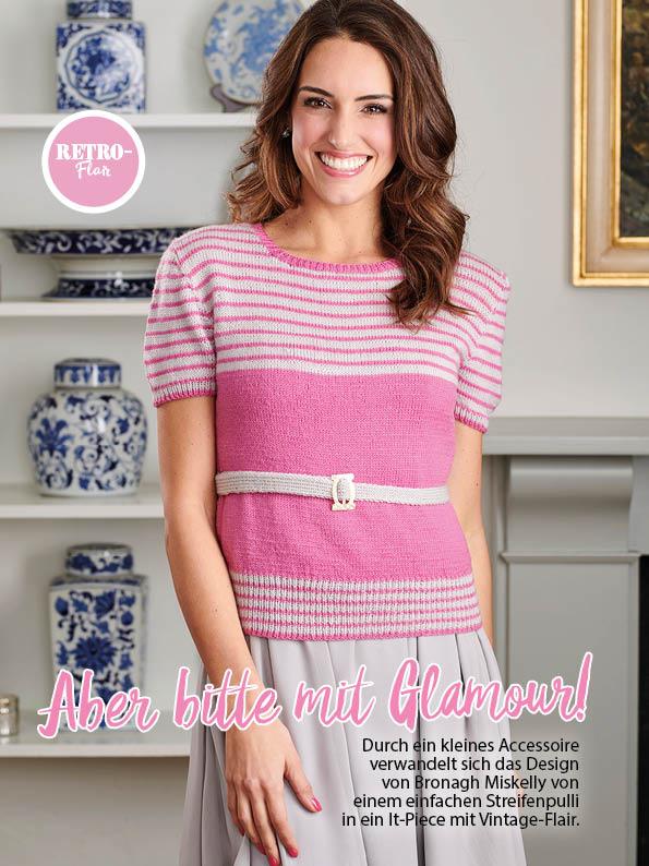 Strickanleitung - Aber bitte mit Glamour! - Simply Stricken Sonderheft Best of Pullover & Shirts 02/2020