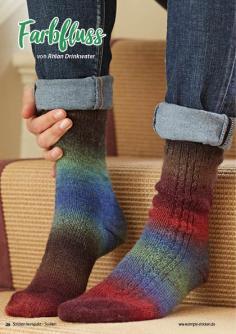 Strickanleitung - Farbfluss - Simply Stricken Kompakt Sonderheft Socken 02/2021
