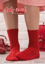 Strickanleitung - Lady in red - Simply Stricken Kompakt Sonderheft Socken 02/2021