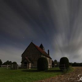 idsworth church by moon light