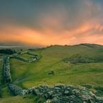 Cawfields sunrise - martin steele