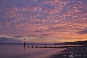 Bournemouth beach Sunset