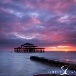 Brighton West Pier sunset