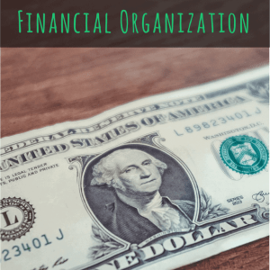 Three Simple Steps to Financial Organization