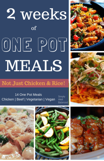 Looking for quick and easy one pot meals? These recipes are perfect for busy moms and families to throw together a simple weeknight dinner. Two weeks worth of one pot meals to make dinnertime super easy.