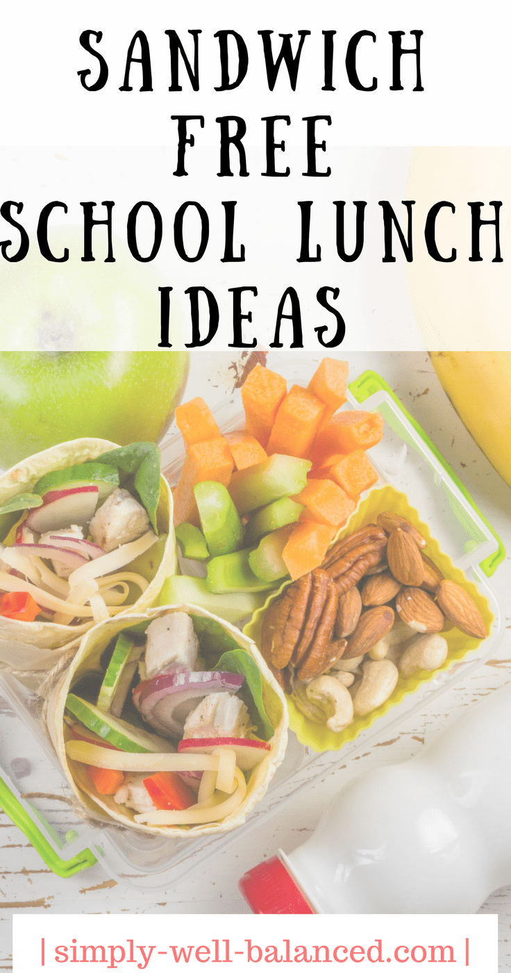 School Lunch Ideas for the kid who won't eat a sandwich | Sandwich Free School lunch ideas | DIY lunchables | School Lunch Ideas.