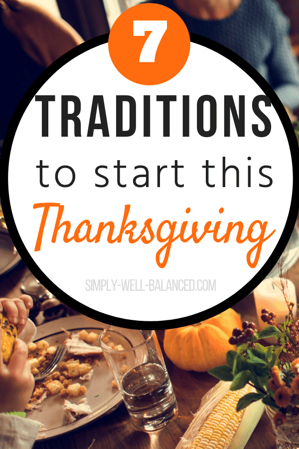 Thanksgiving is a time to enjoy family and friends, and create memories with your family! Try out one of these inspiring Thanksgiving traditions. Creative yet simple traditions to celebrate Thanksgiving #thanksgiving #traditions