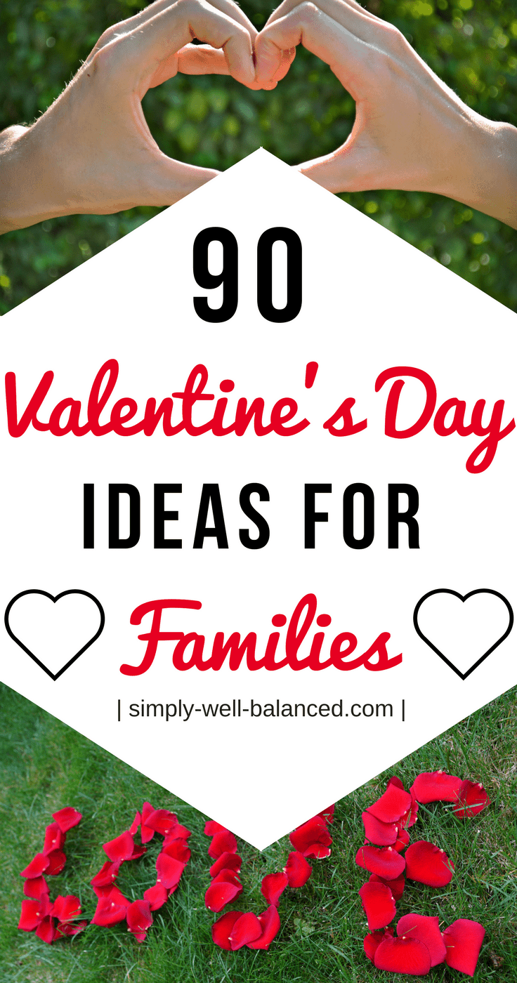 Super simple ideas to celebrate Valentine's Day all day long with your family | Valentine's Day Ideas for Families | simply-well-balanced.com | family valentine's day