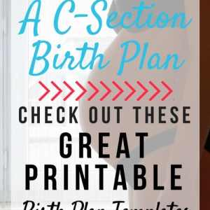 Printable C-Section Birth Plan Options