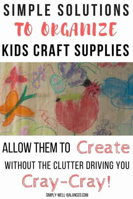 Allow your kiddos to express their creativity through arts and crafts without the stress of the mess that it makes! Avoid the clutter with these simple solutions to organize kids craft supplies so that they can find everything they need.