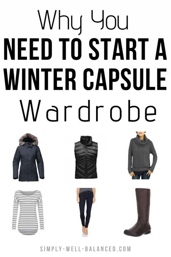 How to build a capsule wardrobe for winter. Includes my go-to wardrobe essentials. As a mom and teacher I am always looking for casual clothes that are also professional and classic so I can wear them to work. When I made the switch to a minimalist closet I learned how to create a capsule wardrobe for each season. This post includes my tips for choosing a color palette so you can easily mix and match outfits. #minimalist #capsulewardrobe #simpleliving