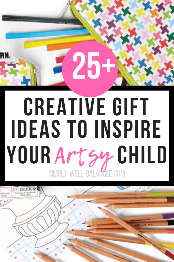 Over 25 non-toy gift ideas for creative and artistic kids. Tons of great ideas for kids who love arts and crafts. Fun arts and crafts activities to do as a family. Christmas and birthday gift ideas for creative and crafty kids. #artsandcrafts #giftideas #giftguide