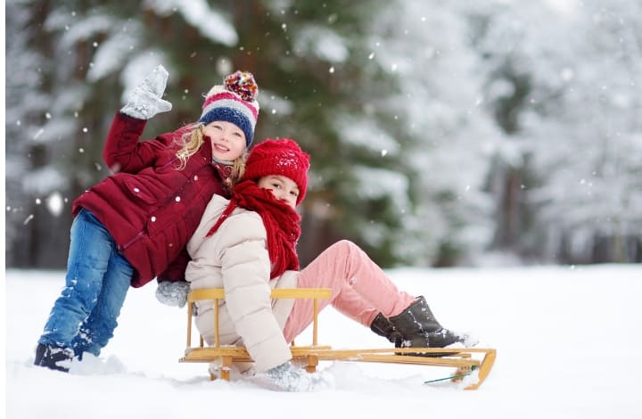 things to do over winter break sledding