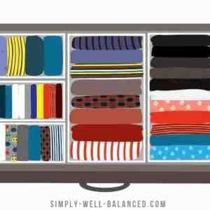 KonMari Method - Clothes Folded in Drawer