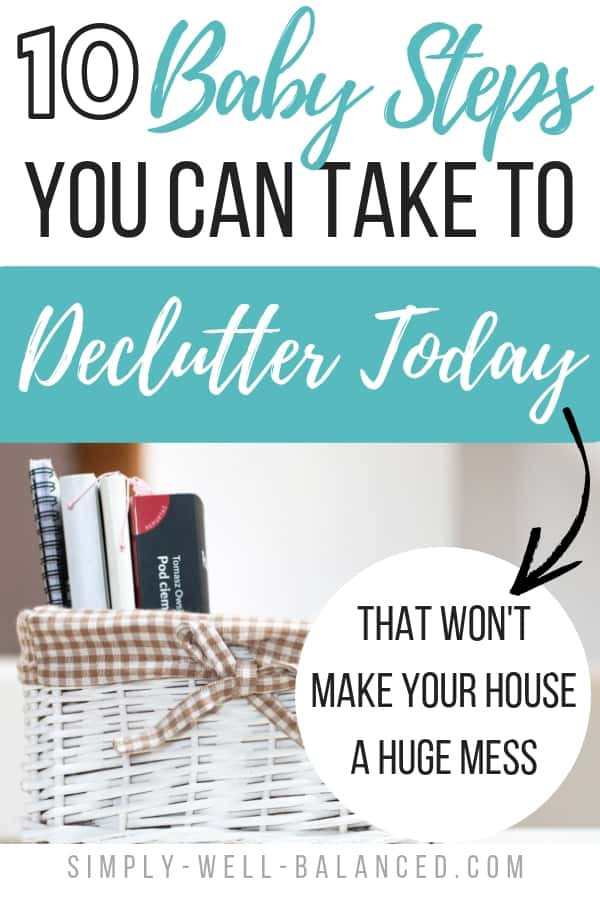 easy steps to declutter today
